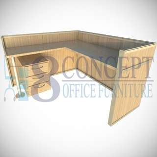 L-Shape Office Cubicle Partition
