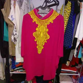 Kaftan blouse PINK brocate