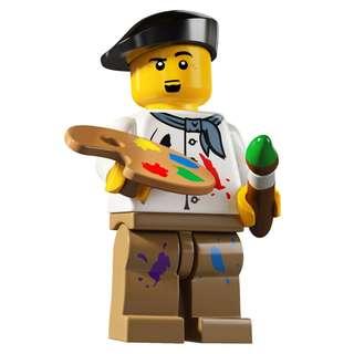 全新 Lego 8804 Minifigures Series 4 Artist 畫家 No.14 共1件 (齊件連底板) (不連說明書及包裝袋)