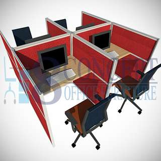 Fishbone Type Office Cubicle Partition
