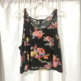 F21 Floral sexy top