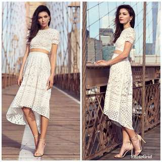 The Closet Lover Leona Crochet Top in White