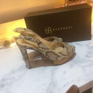 Charles & keith heels snake skin