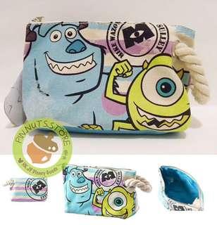 日本Disneystore monsters inc 化妝袋 筆袋