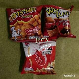 三款泰國脆口零食 {蝦條售完}