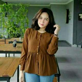 Blouse nadya brown