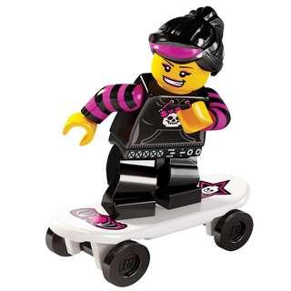 全新 Lego 8827 Minifigures Series 6 Skater Girl 滑板女孩 No.12 共1件 (全新開小口確認)