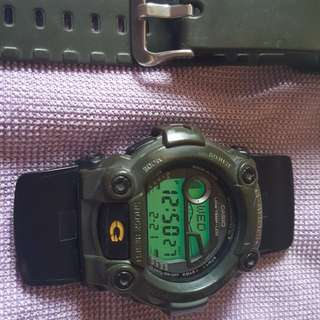 Gshock G7900 G-ShockSeries Military Green Rare No Strap Authentic