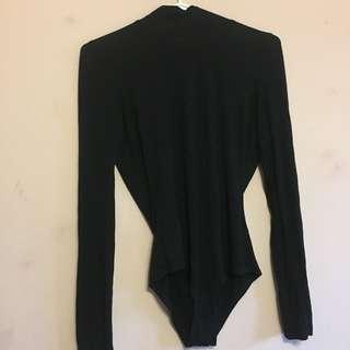 Backless Turtleneck Bodysuit