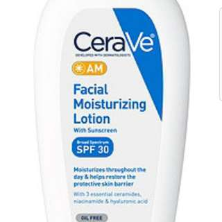 Cerave AM facial moisturising lotion with Sunscreen -89ml