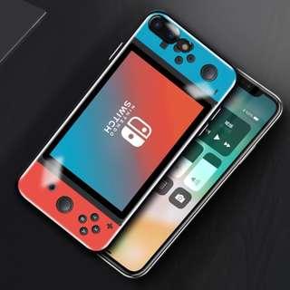 (全新送玻璃貼 ) Switch 主機 機式  iPhone X 10 背殼- iPhone X 10 及 NS 迷必備