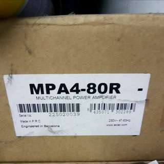 BNIB ECLER MP A4-80R Multi-Channel Power Amplifier