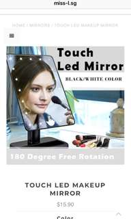 🌈 TOUCH LED MAKEUP MIRROR