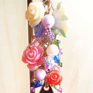 Custom Fob for Rosy Posy With JJB OOAK Pink Lady Rose Gold Star