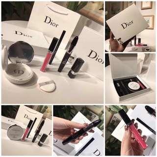 Dior BB + eyeliner+ lipstick+ lip gloss +mascara