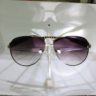 Ladies Purple Tinted Metal Sunshades