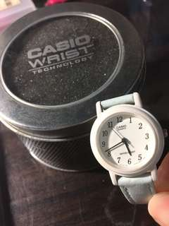 Casio watch(baby blue)