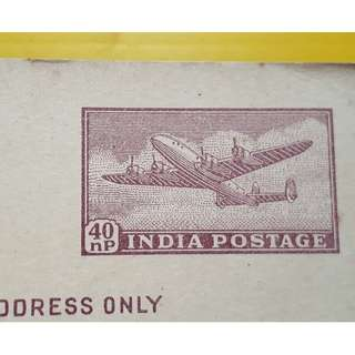 India Airmail Post Card - old Stationary item - MINT