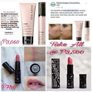 Mary Kay Dermabrasion Set with Beauty That Counts Hearts Together Lipstick