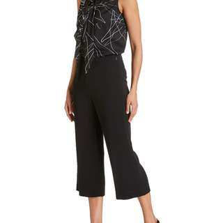 SABA AMITY CULOTTE WIDE LEG BLACK PANTS