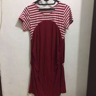 Red Dress With Strip