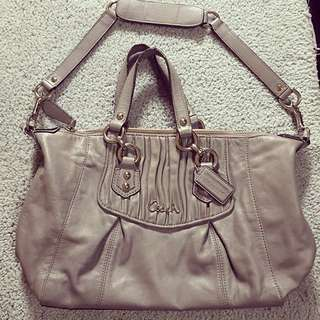 ALL LEATHER AUTHENTIC COACH TWO WAY BAG