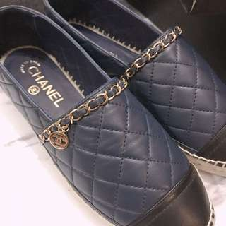 Chanel espadrilles 草鞋 菱格 皮串鍊子鞋
