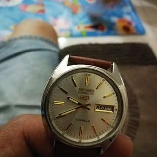 Vintage 'SEIKO 5'  21 Jewels Automatic Men's Watch