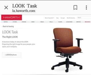 原價$3,XXX ,Haworth Look Task Chair 、office Chair 、電腦椅、大班椅