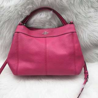 Incoming stocks Coach Small Lexy Pebble Leather Shoulder Bag in Magenta