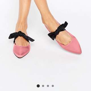ASOS Pointed Bow Ballet Flats