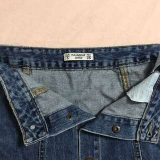 Pull and Bear Denim Button Up Skirt
