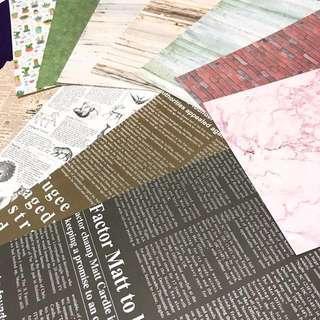 各式背景紙 卡紙 背景布 拍攝道具 拍攝背景 拍照道具  仿木紋 大理石紋 方格紋 木紋 動物圖鑑 英文海報 擺飾擺設裝飾網美網拍