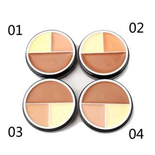 💄💋 Menow Contour Foundation 3in1 Contour Highlighter Palette