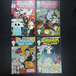 7 Marvel Comics THE PUNISHER WAR ZONE #1 to 7
