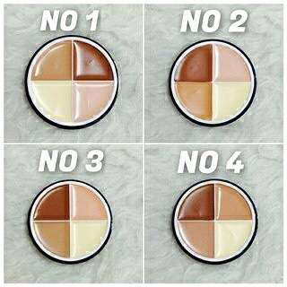💄💋 Menow Contour Foundation 4in1 Contour Highlighter Palette