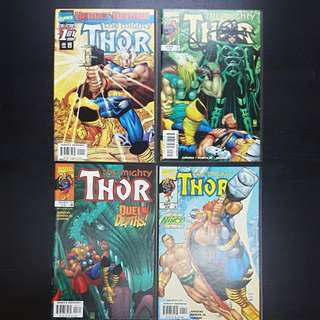 1998 7 Marvel Comics THE MIGHTY THOR #1 to 7