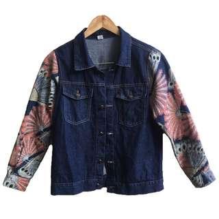 Denim Jacket with Sleeve detail