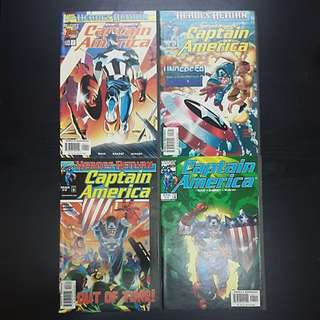 1998 12 Marvel Comics HEROES RETURN CAPTAIN AMERICA #1 to 12