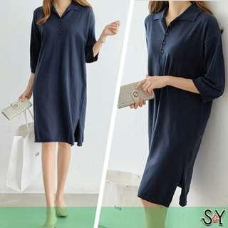 Dress polo shirt jumbo dress kaos big size dress jumbo Big truffle Dress cotton combed polo shirt dress