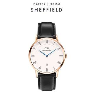 [議價免問] Daniel Wellington Dapper Sheffield 34/38mm Rose Gold watch