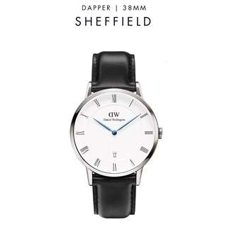 [議價免問] Daniel Wellington Dapper Sheffield 34/38mm Silver watch