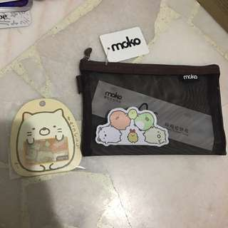 sumikko Gurashi pencil case and stickers