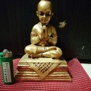 Late Kruba Duangdee Kumantong Statue for rent 5inch Lap.