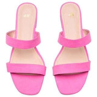 H&M sandal pink flat strap