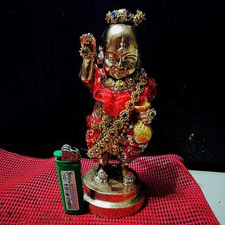 Old School Kumantong Bucha For Sale. Pitong with gold paint. 100% is not fake. Been Rebless by several Master. 9inch Tall 3inch base.