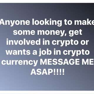 GET INVOLVED IN CRYPTO CURRENCY