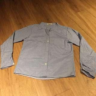 Cerchio blue White checkered shirt