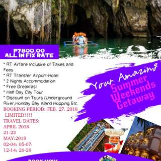 3d 2n All in Fix Price Puerto Princesa Tour Package