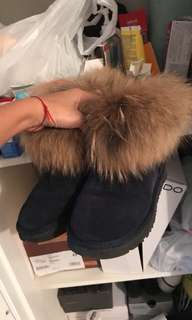 Navy blue fury uggs
